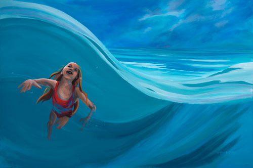 Swimming Girl by Carol Knowlton-Dority Swimming Girl 48